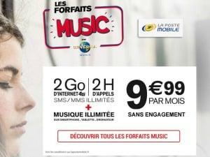 Offre music La Poste Mobile