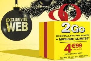 Forfait La POste 2h 2 Go en promo