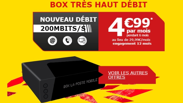 Abonnement La Poste Mobile Box TV Plus en THD et 4K