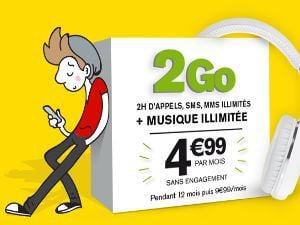 Promo La Pote Mobile 2Go à 4,99€/mois
