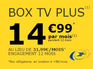 Box TV Plus de La Poste Mobile