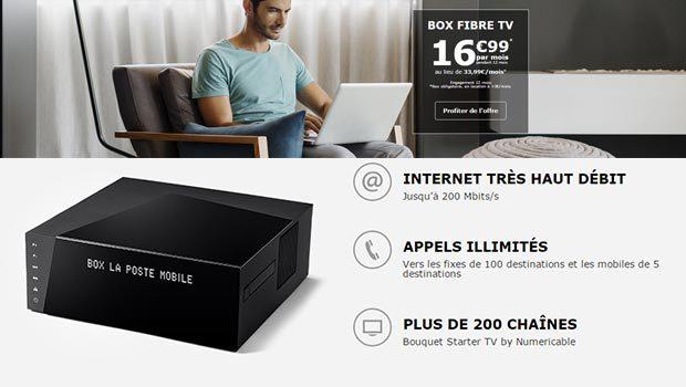 L'offre Box Fibre TV de La Poste Mobile (SFR Starter)