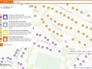 La carte de couverture fibre optique Orange