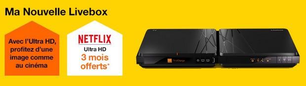 netflxi offert 3 mois avec une offre Livebox Play ou Jet Fibre