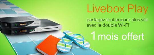 1 mois offert sur la Livebox Play