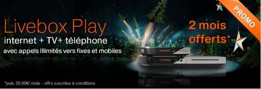 2 mois gratuits sur les offres Orange Livebox Play