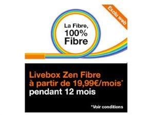 Offre fibre Orange moins de 20 euros