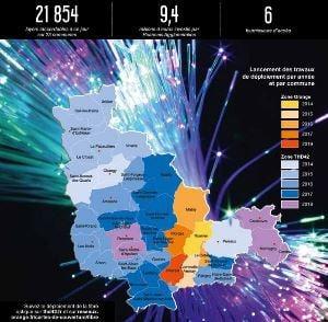 La fibre optique par THD42 dans la Loire