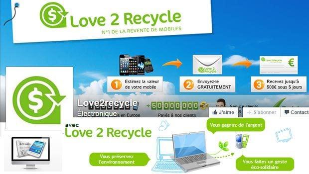 Love2recycle, revente et achat de smartphones et de tablettes