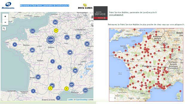 Love2recycle, Micromania, Dockgames et PSM : près de 540 magasins partenaires