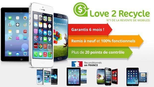 love2recycle, envoi gratuit des smartphones par Chonopost