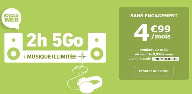 La Poste Mobile : 5 Go à moins de 5€
