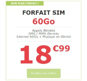 La Poste Mobile : baisse de prix sur le forfait 60 go