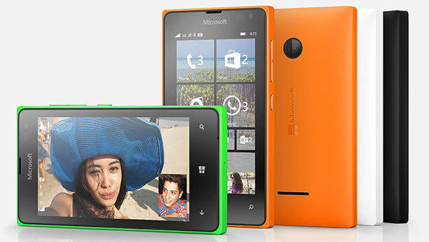 Lumia 435, tous une gamme de coloris, mais a priori pas le bleu chez nous