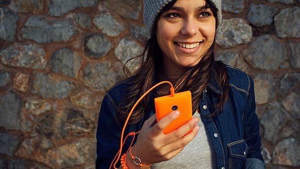 Le Lumia 435 est présenté comme destiné à un public plutôt adolescent...