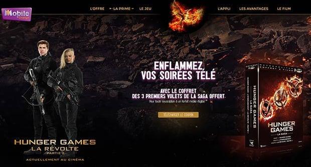 Hunger Games et M6 Mobile'