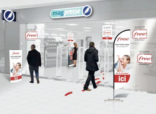 le réseau mag press accueille les distributeurs de free mobile