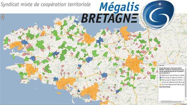 Le déploiement de la fibre optique sur la Bretagne