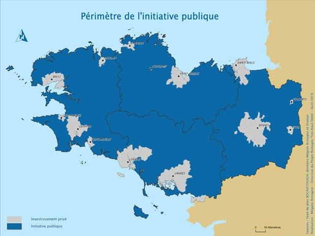Mégalis Bretagne : répartition initiative publique et investissement privé