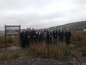 La FIRIP et les élus de la région Grand Est sur le site