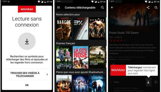 Utiliser le téléchargement sur Netflix