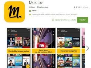 Molotov disponible sur Android