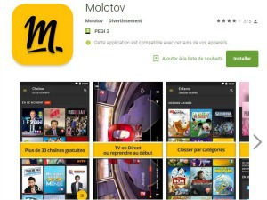 Molotov disponible sur Android