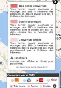 4 niveaux d'informations Voix et SMS MonReseauMobile.fr