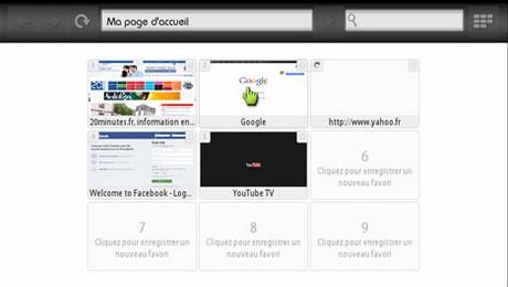 Navigateur web sur LaBox Fibre de numericable