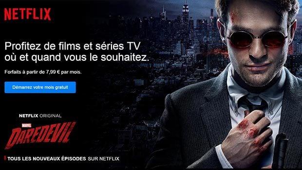 Netflix propose toujours un mois d'essai gratuit