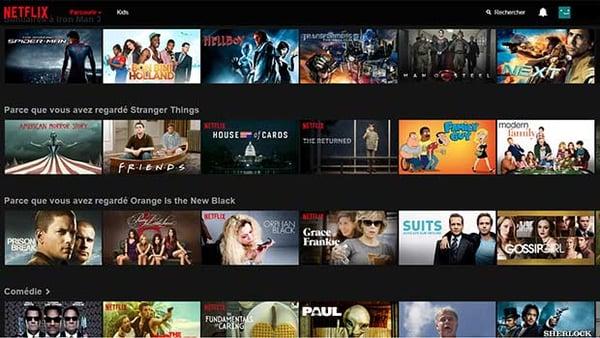 Une interface Netflix très simple