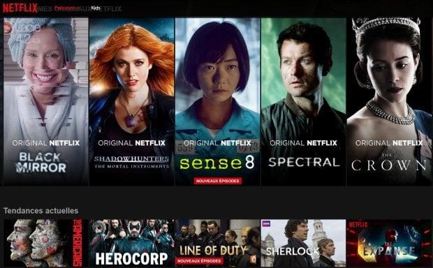 Les séries sur Netflix