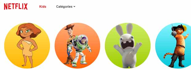 L'espace Kids de Netflix