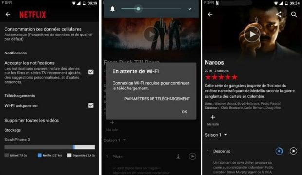 Paramétrage du téléchargement sur Netflix