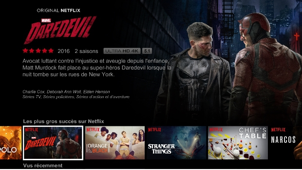 Netflix sur les box de SFR en natif