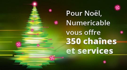 Pour Noël, Numericable vous offre 350 chaînes