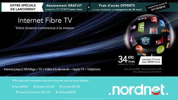 L'offre Fibre TV Nordnet sur le réseau Axione