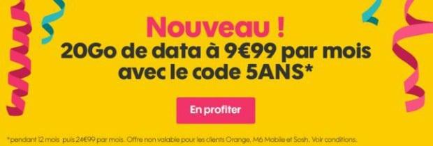 Nouveau forfait Sosh 20 Go