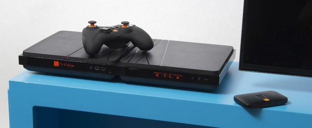 Nouveau décodeur TV d'Orange avec le routeur 4G Airport de Huawei