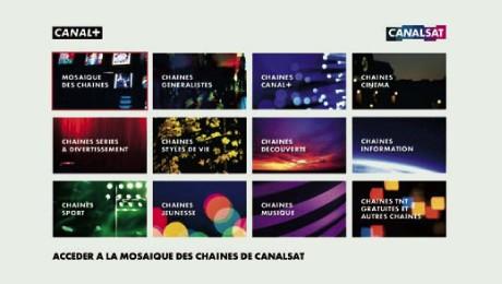 Nouvelle mosaique Canalsat pour les abonnés ADSL