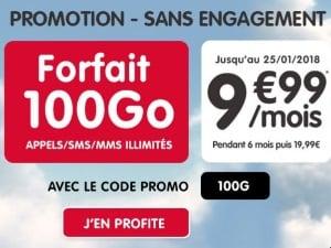 NRJ Mobile : forfait 100 Go en promo