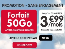 Forfait NRJ mobile 50 Go pas cher