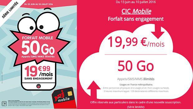 NRJ Mobile WOOT 50Go à 19,99€