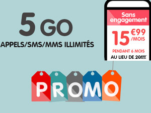 NRJ Mobile 5Go promo