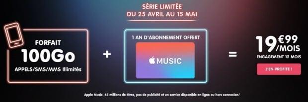 Apple Music gratuit un an avec NRJ Mobile