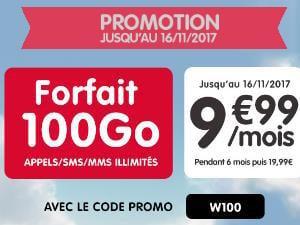Forfait data 100Go à petit prix chez NRJ Mobile