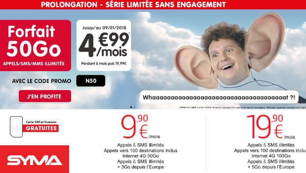 NRJ Mobile Woot 50Go versus Syma mobile 50go