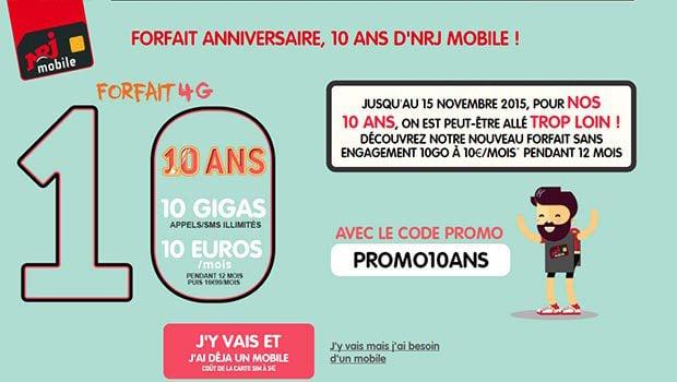 10 ans = 10 Go = 10€/mois