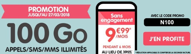 NRJ Mobile : code promo pour le forfait 100 Go