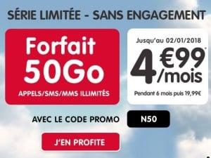 Forfait 50 Go en promotion chez NRJ Mobile